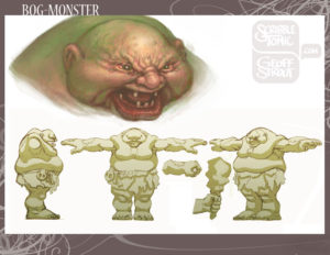 Bog Monster - Concept Design