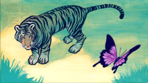 Tiger & Butterfly - Perspective