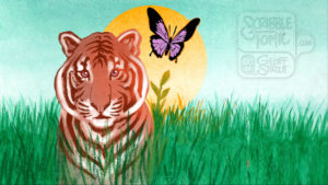 Tiger & Butterfly - Sunset 2