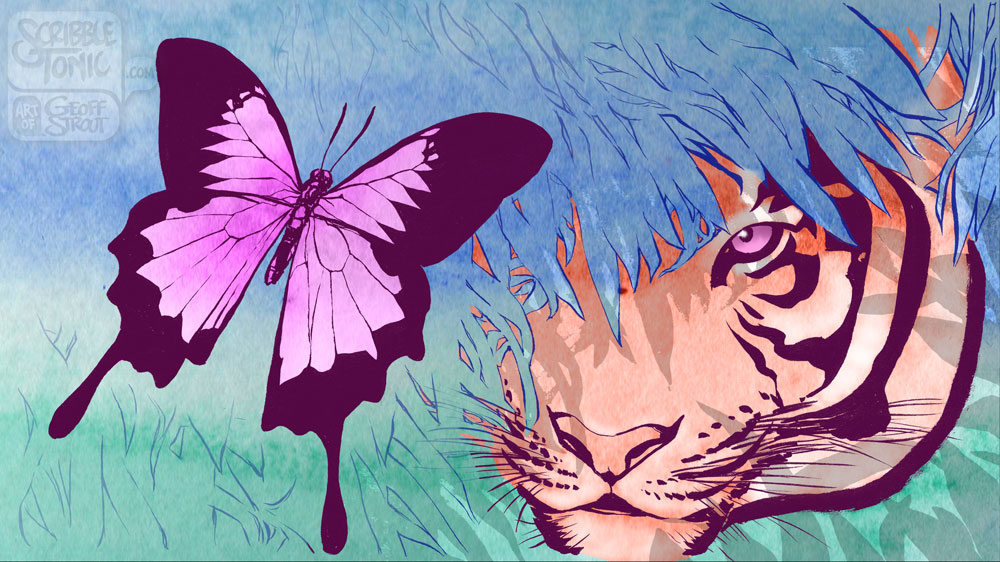 Tiger & Butterfly – Surprise