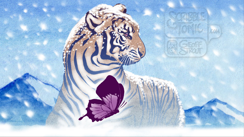 Tiger & Butterfly – Snowblind